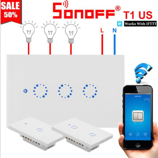 Sonoff Smart Wifi Wall Switch | Smart Home Automation Store