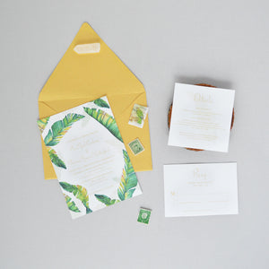 Tropical Palm Wedding Invitation Suite