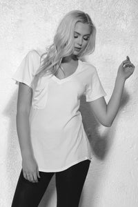 Baker Boyfriend Tee | White - Fox Trot Boutique