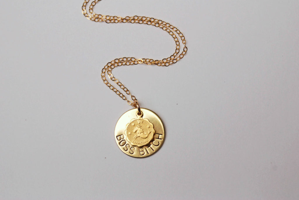 Zodiac Personality Charm Necklace - Fox Trot Boutique