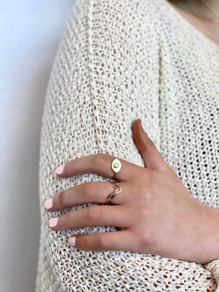 Chevron Stacking Ring - Fox Trot Boutique