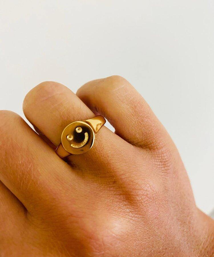 Smiley Face Ring - Fox Trot Boutique