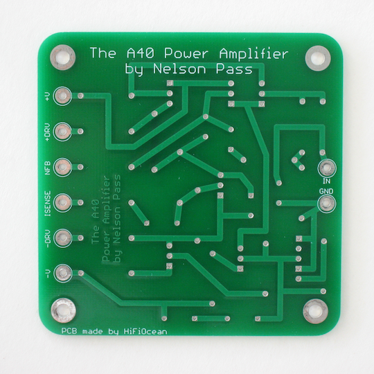 A40 power amplifier PCB, bottom