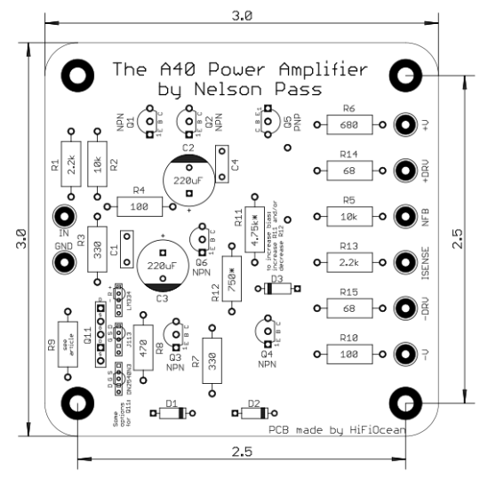 A40 Class A Audio Power Amplifier Boards (pair)
