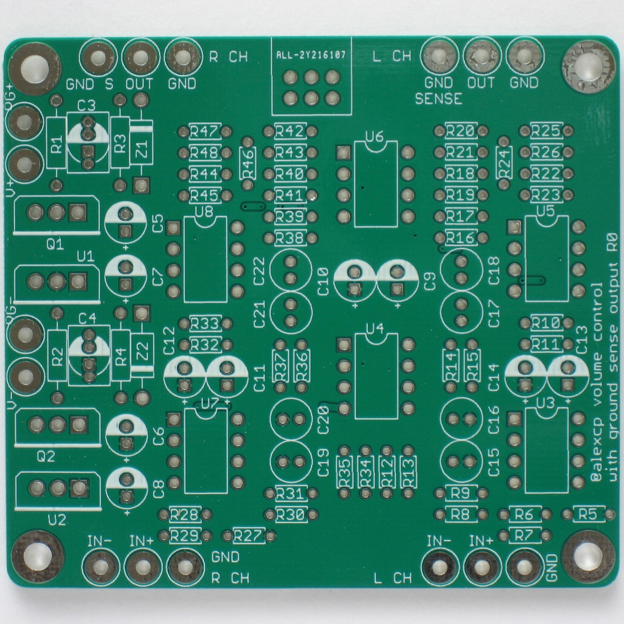 Balanced Volume Control Board with Ground Sensing Output