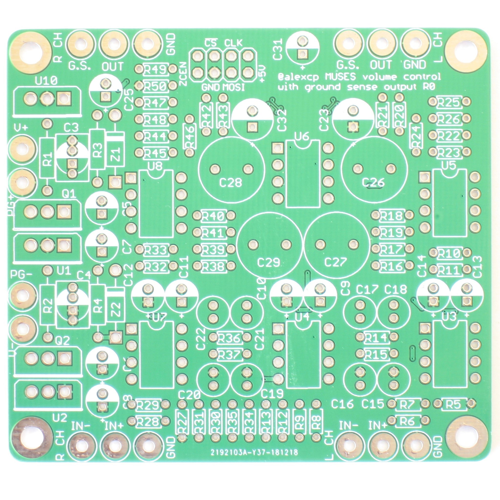 MUSES72320 Volume Control Board with Ground Sensing Output