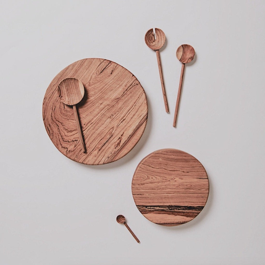 WOOD SERVING SPOON