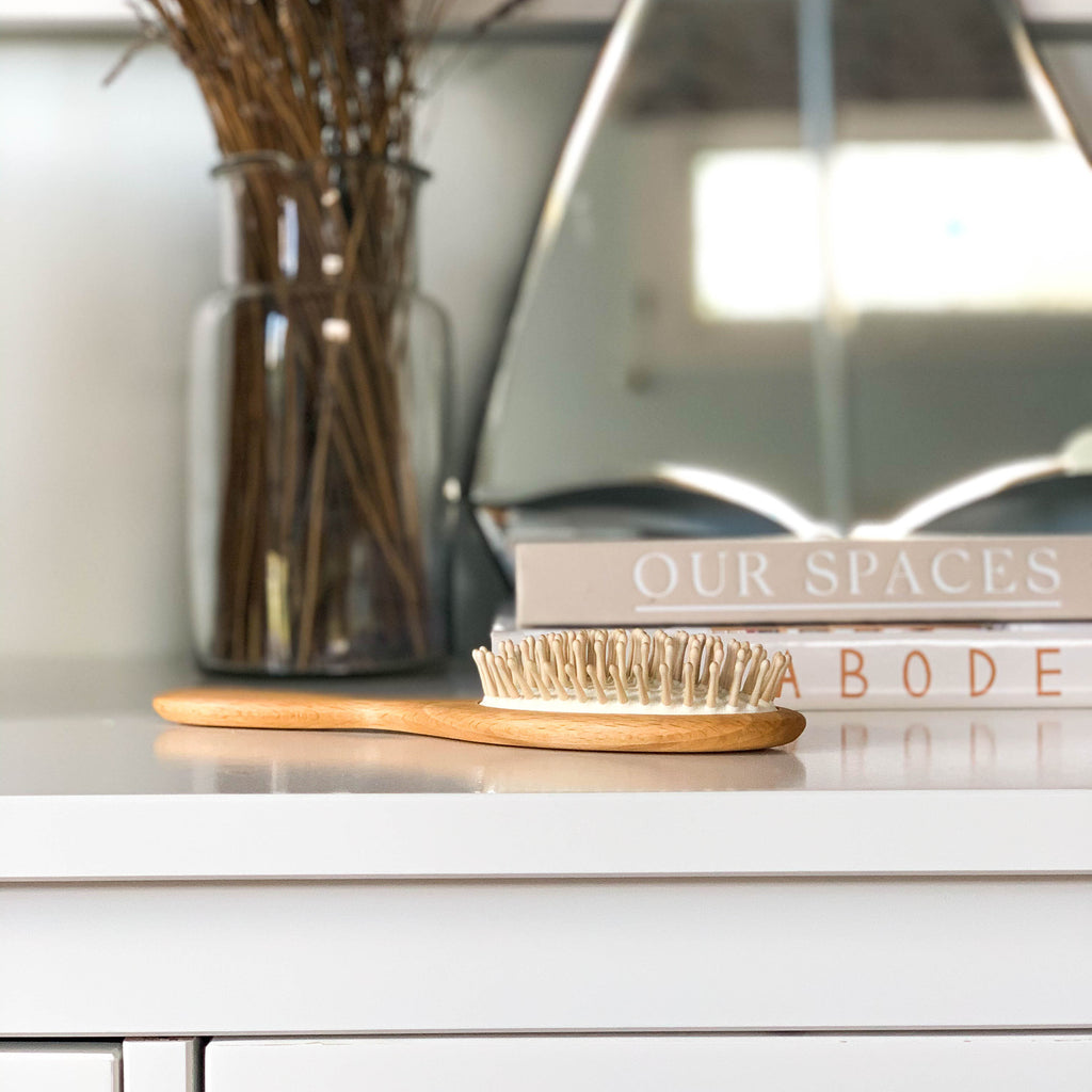 OVAL BEECHWOOD HAIR BRUSH