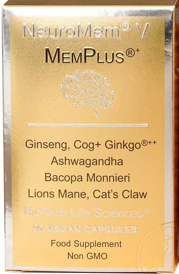 5 - MemPlus® - Helps Memory & Concentration - Herbal NeuroMem BioTech Life Sciences