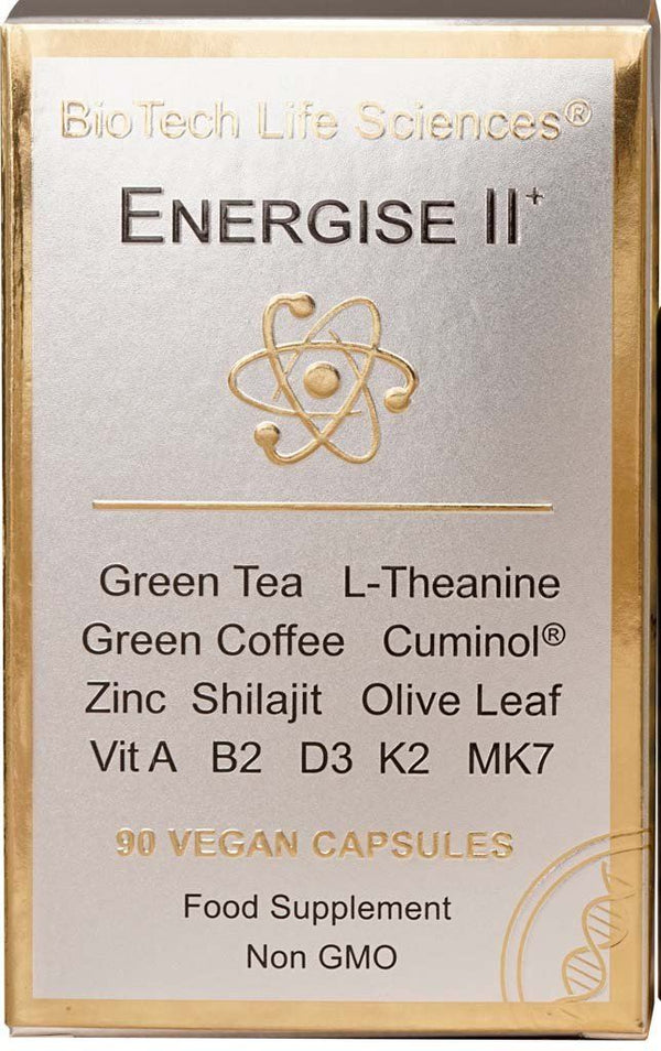 E2 - Focus & Calm + Thermogenic, Green Tea Theanine Green Coffee, Curcumin & Zinc TheraStemCell ENERGISE BioTech Life Sciences