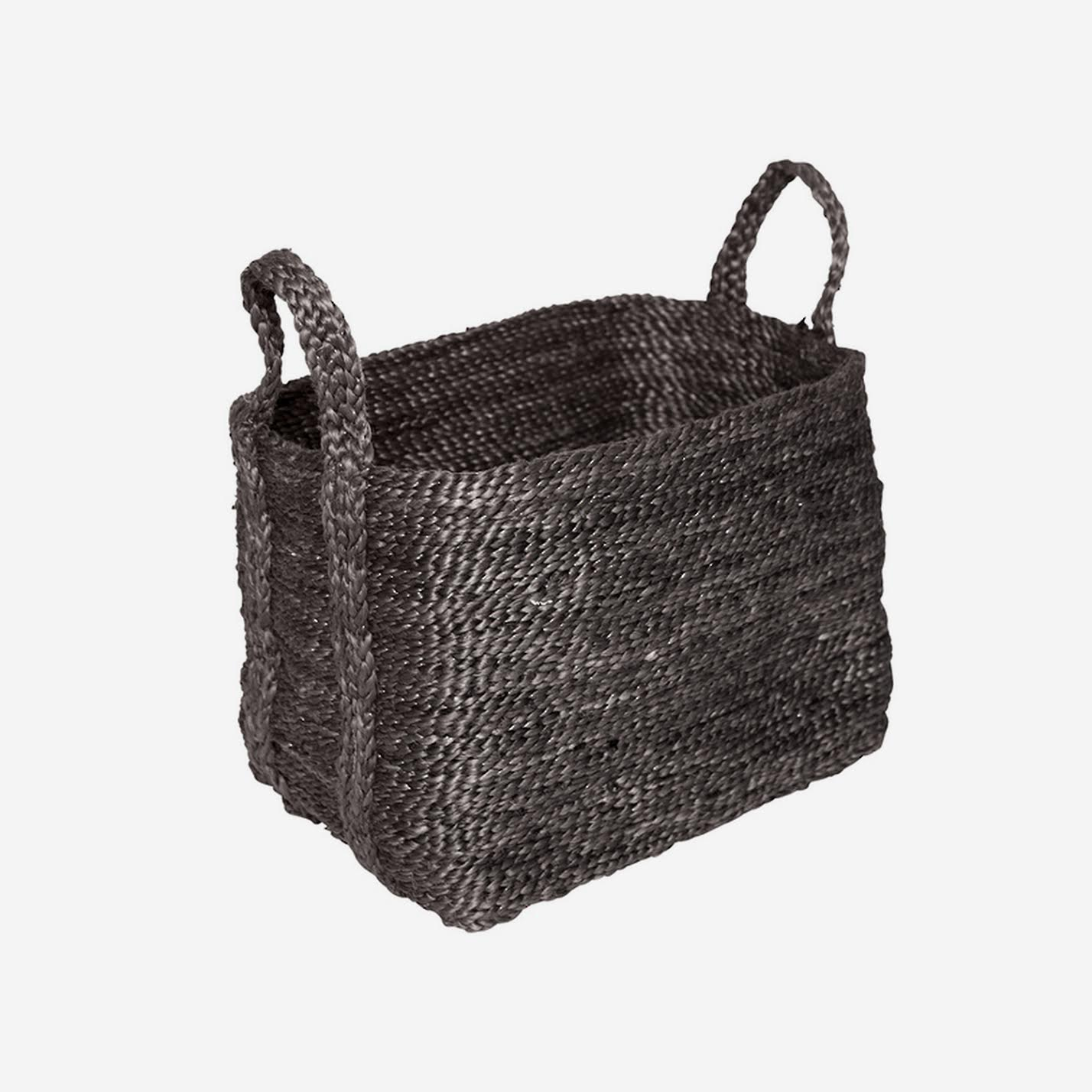Large Jute Basket Charcoal