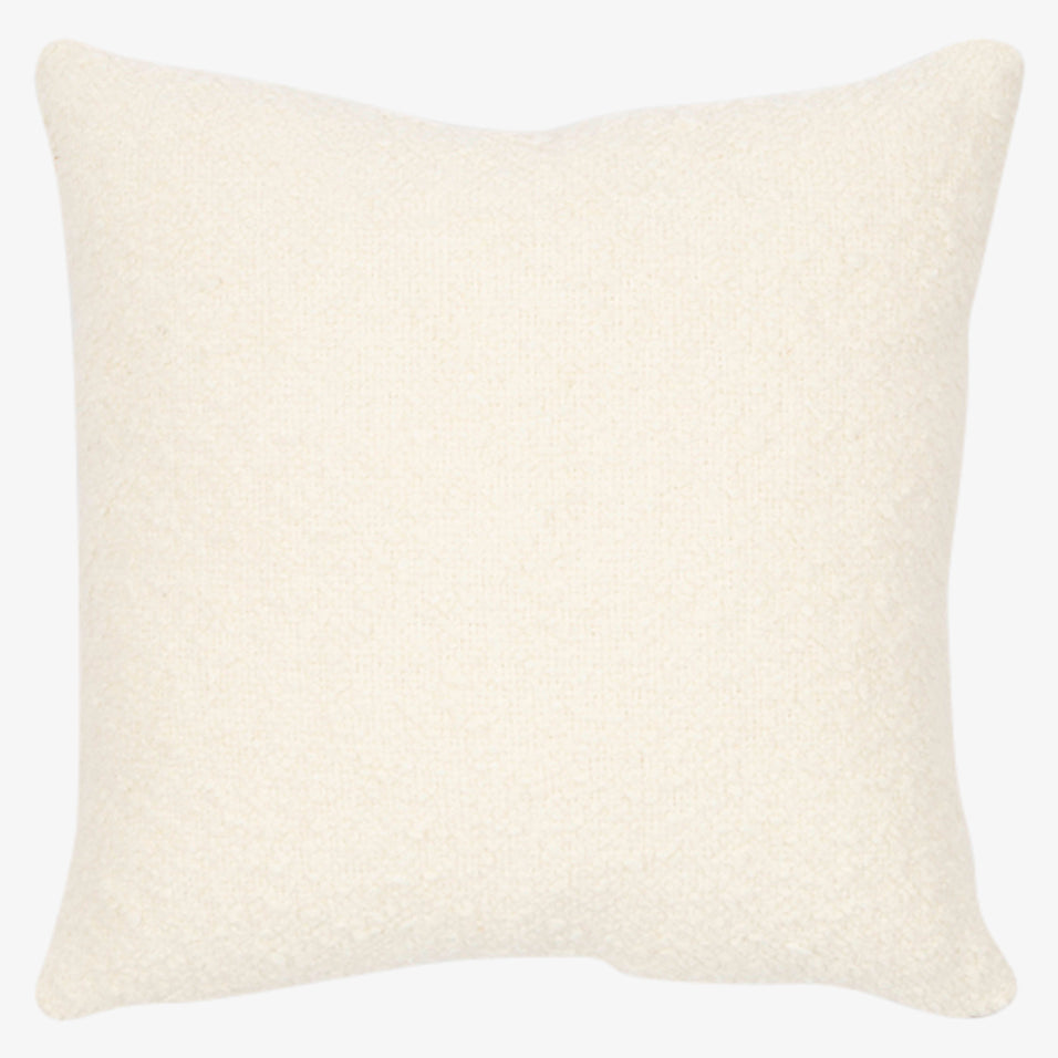 Teddy Throw Pillow Ivory