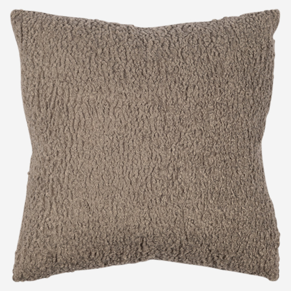 Teddy Throw Pillow Pewter
