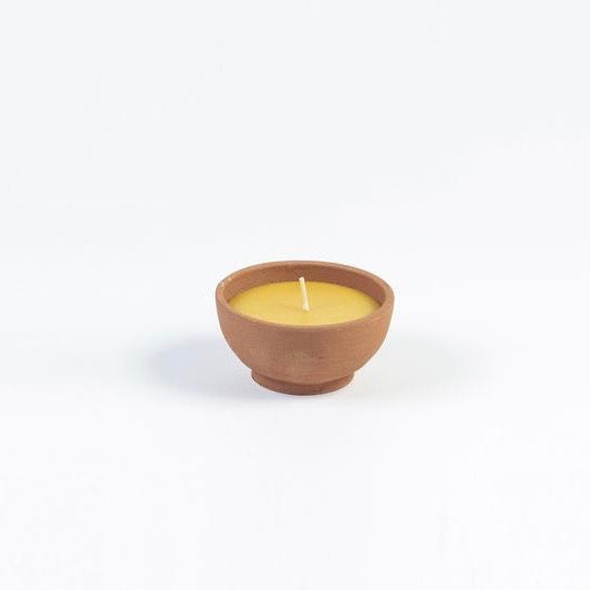 Terracotta Beeswax Candle