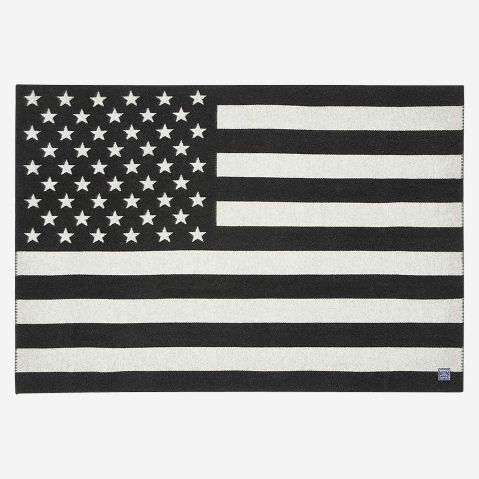 American Flag Throw Black