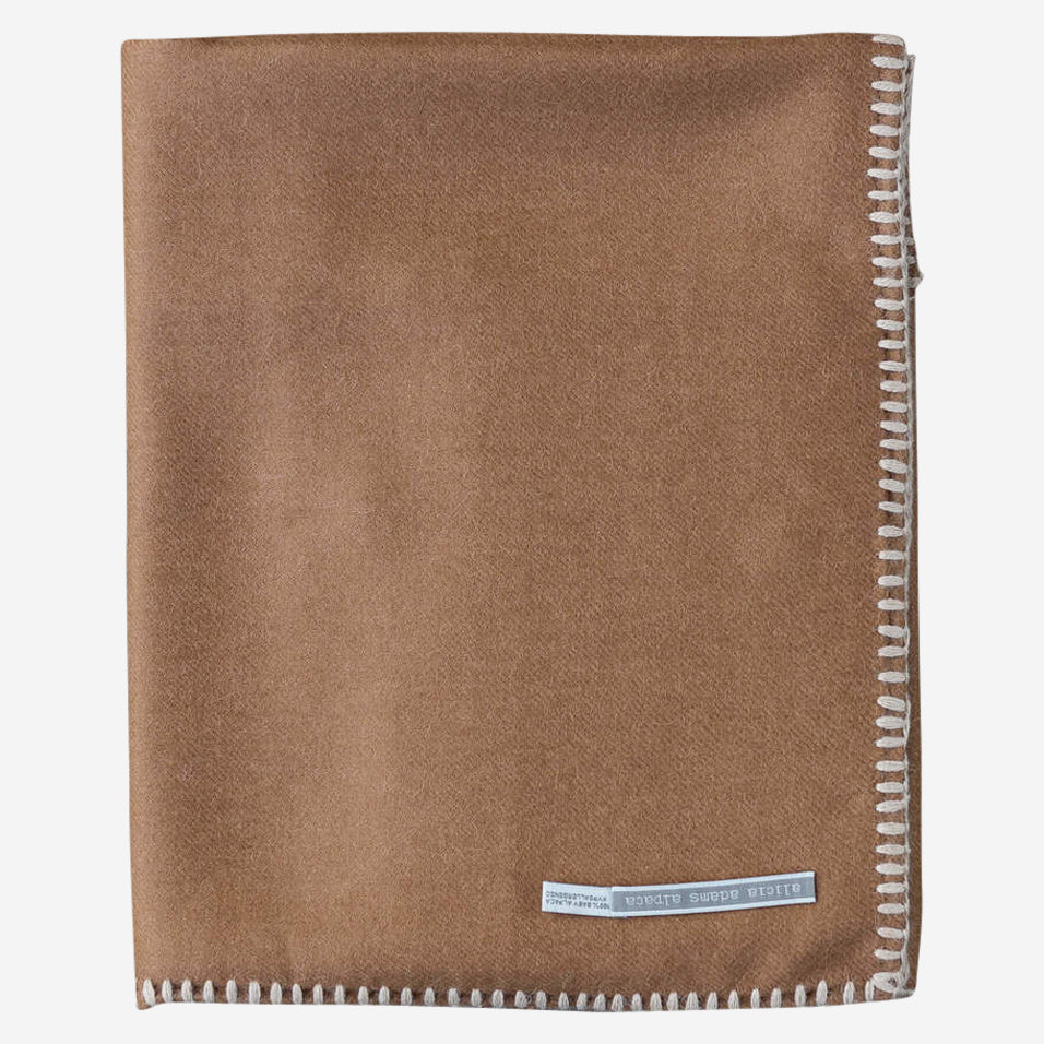 Arena Travel Blanket Cognac / Beige