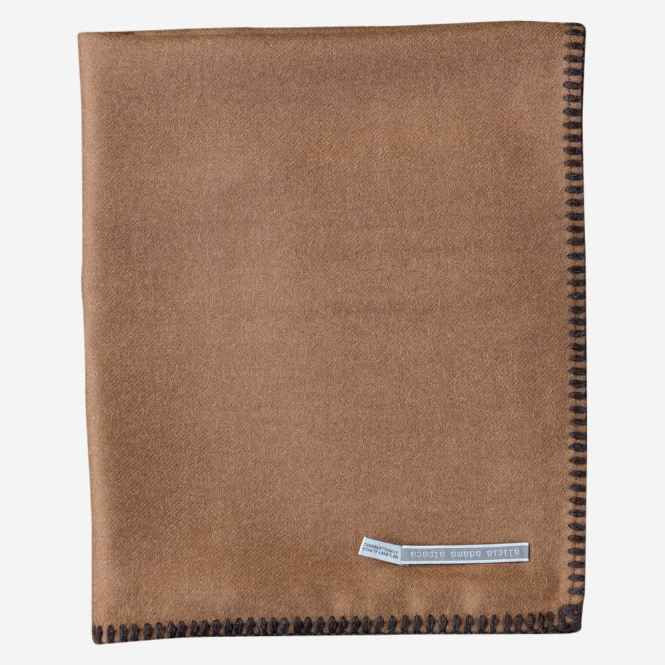 Arena Travel Blanket Cognac / Chocolate