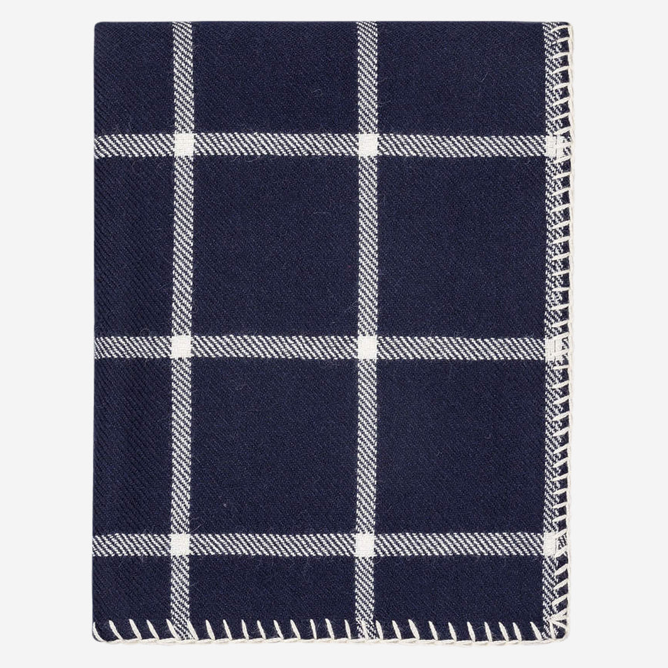 Graydon Throw Navy / Ivory