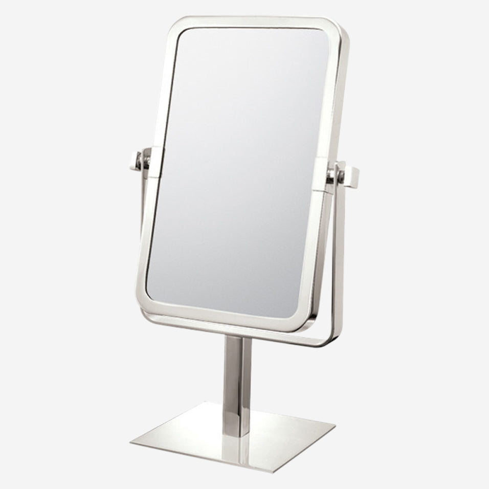 Rectangular Free Standing Double-Sided Mirror