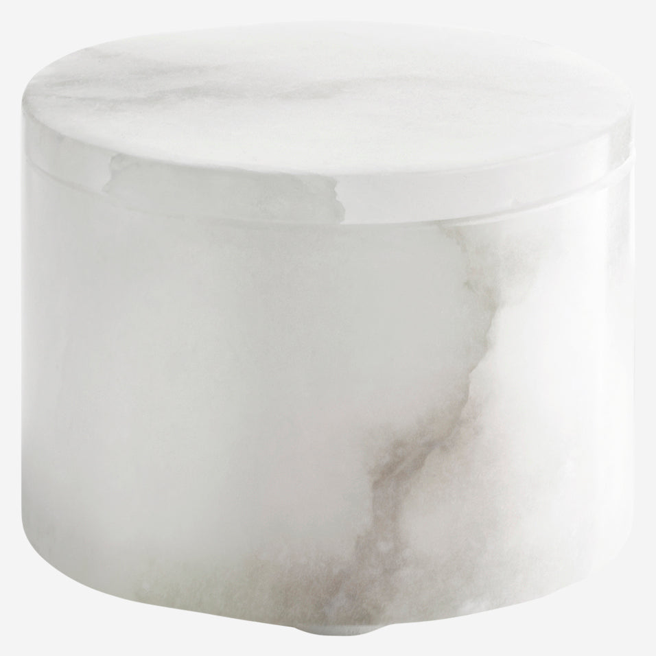 Alabaster Cotton Jar