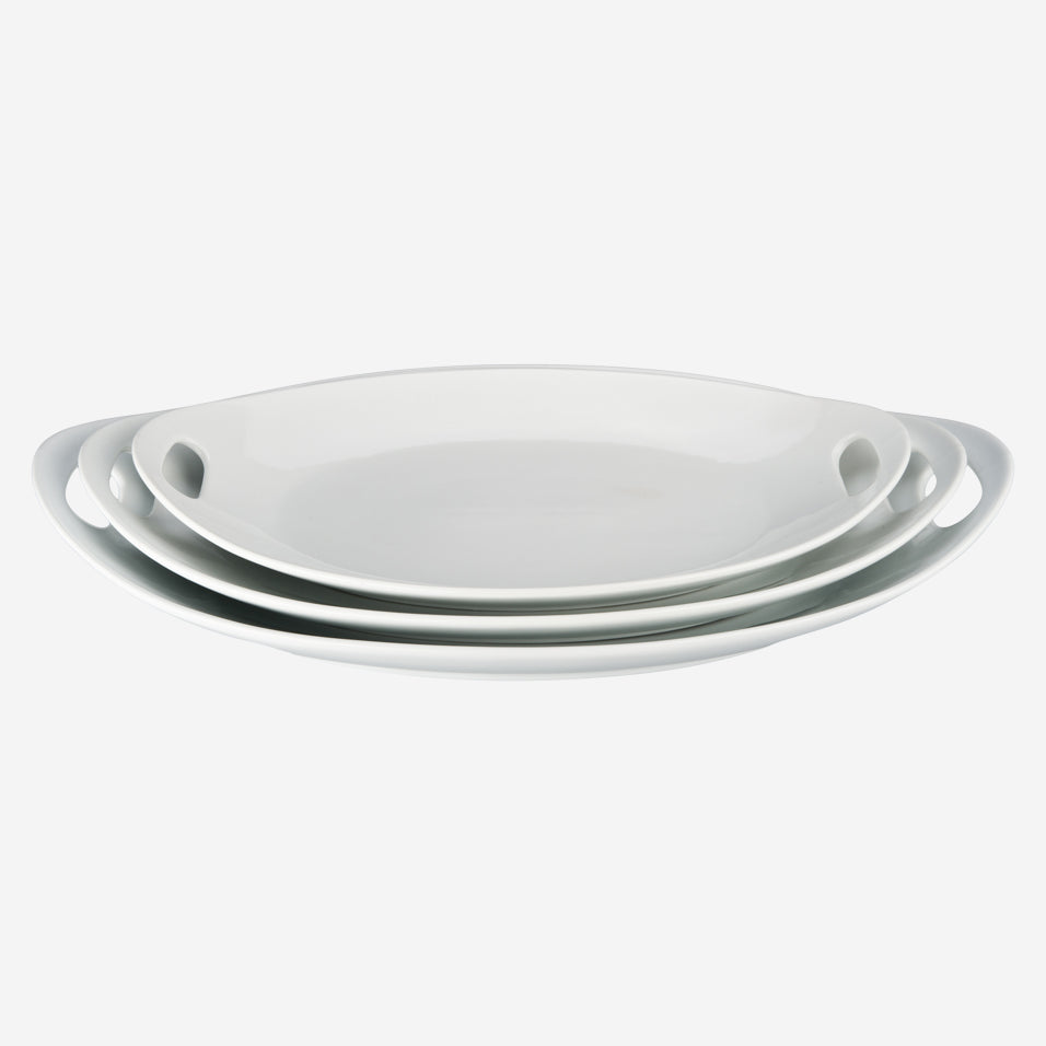 Oval Platter with Handles Set
