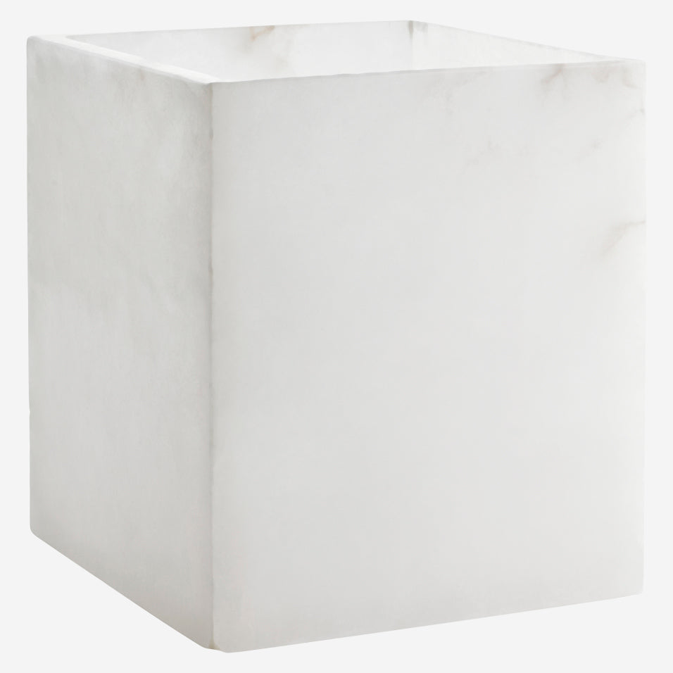 Alabaster Waste Basket