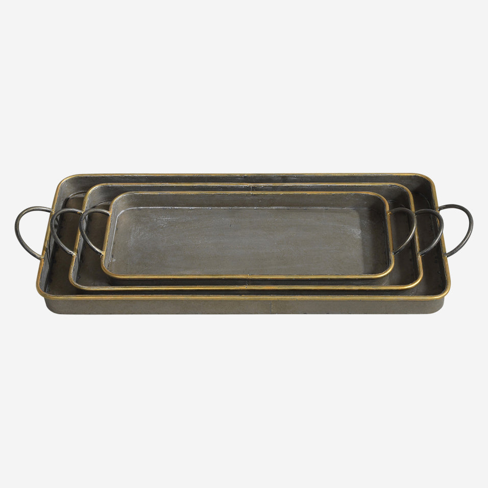 Archer Galvanized Trays Set of 3