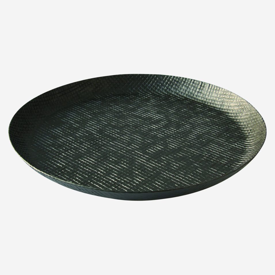 Black Crosshatch Tray