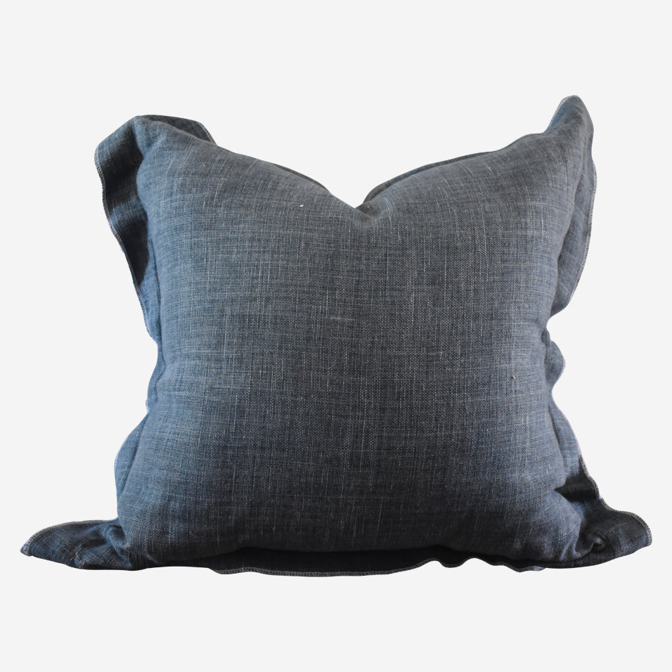 Blake Throw Pillow Midnight Blue