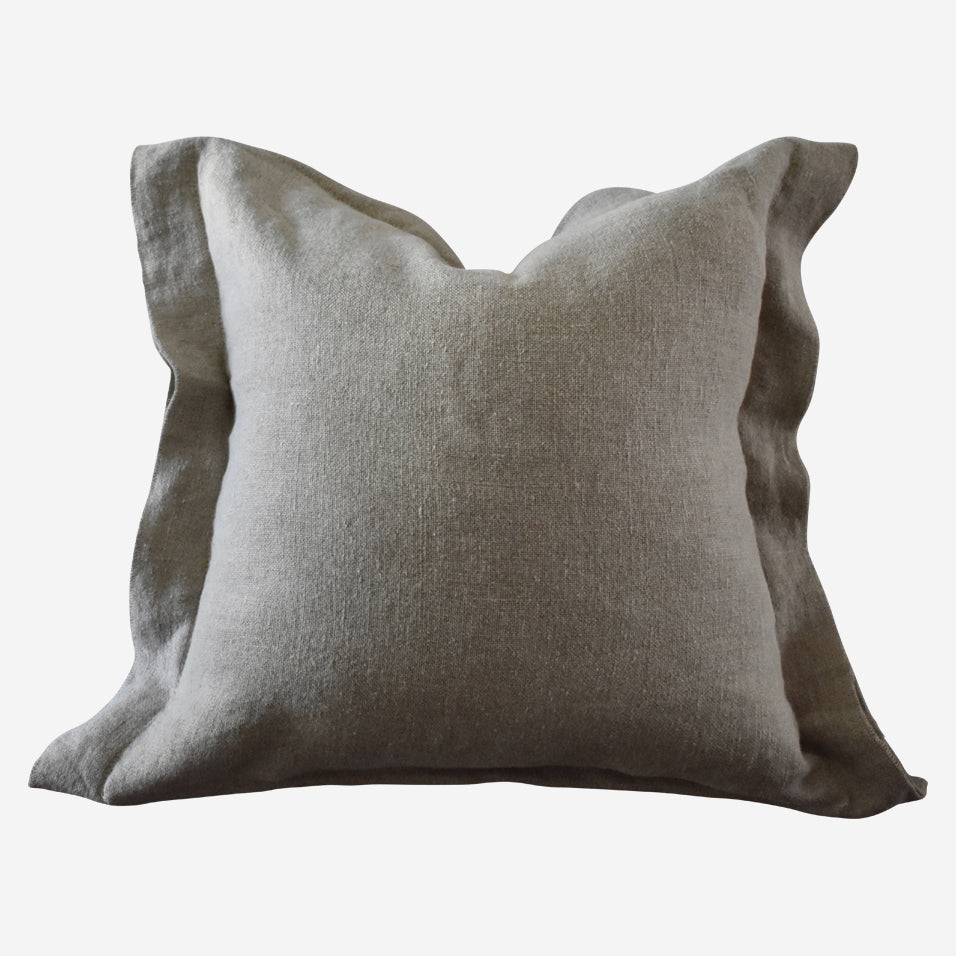 Blake Throw Pillow Flax