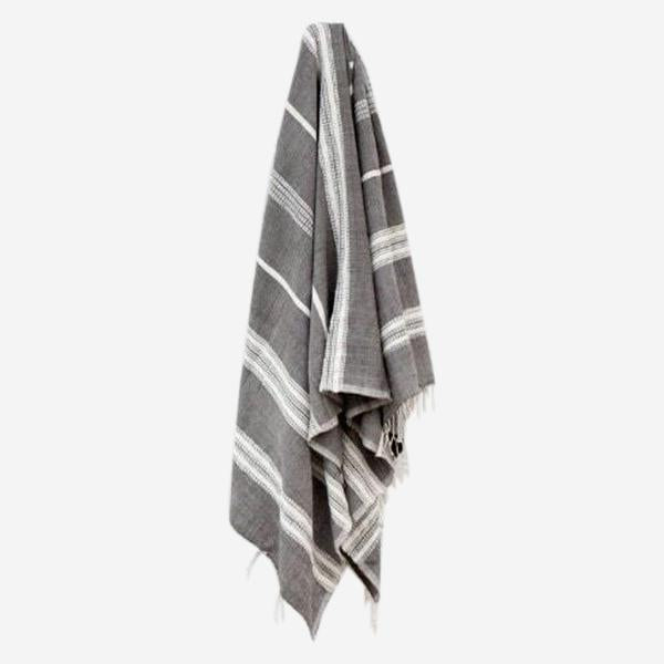 Aden Hand Towel Grey/Natural