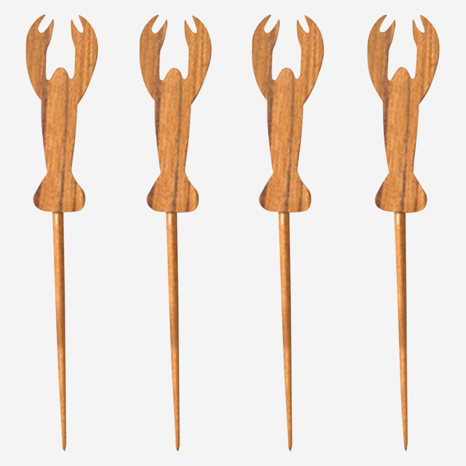Teak Lobster Picks