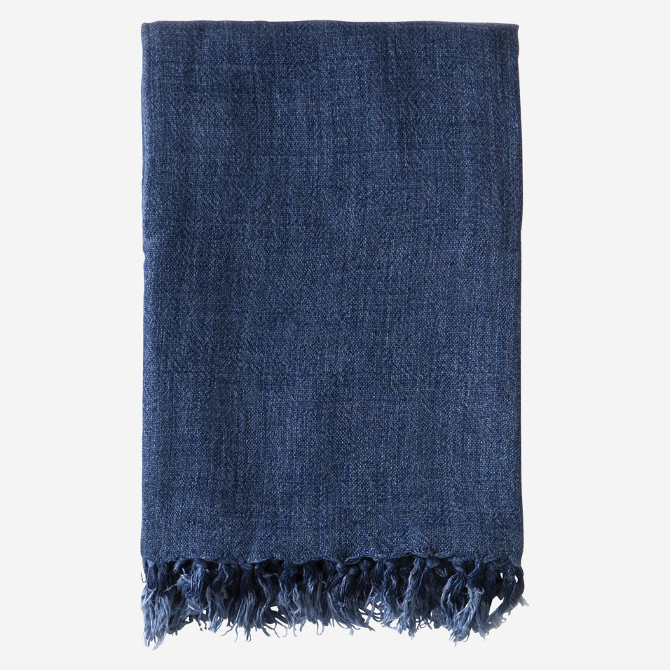 Montauk Throw Indigo