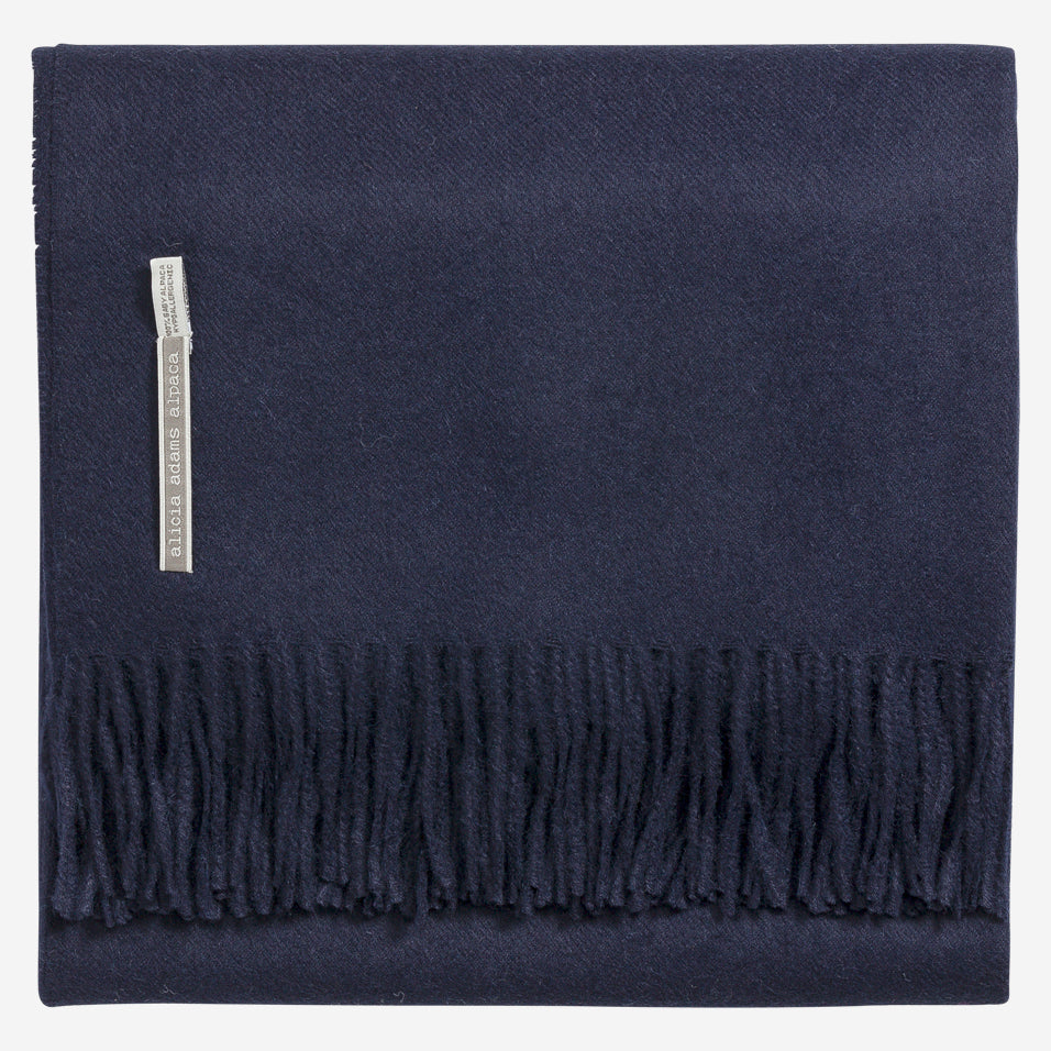 Classic Solid Throw Navy