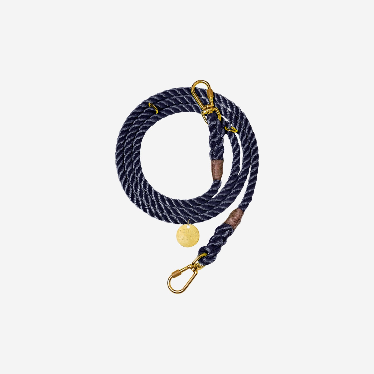 Nylon Rope Leash Navy