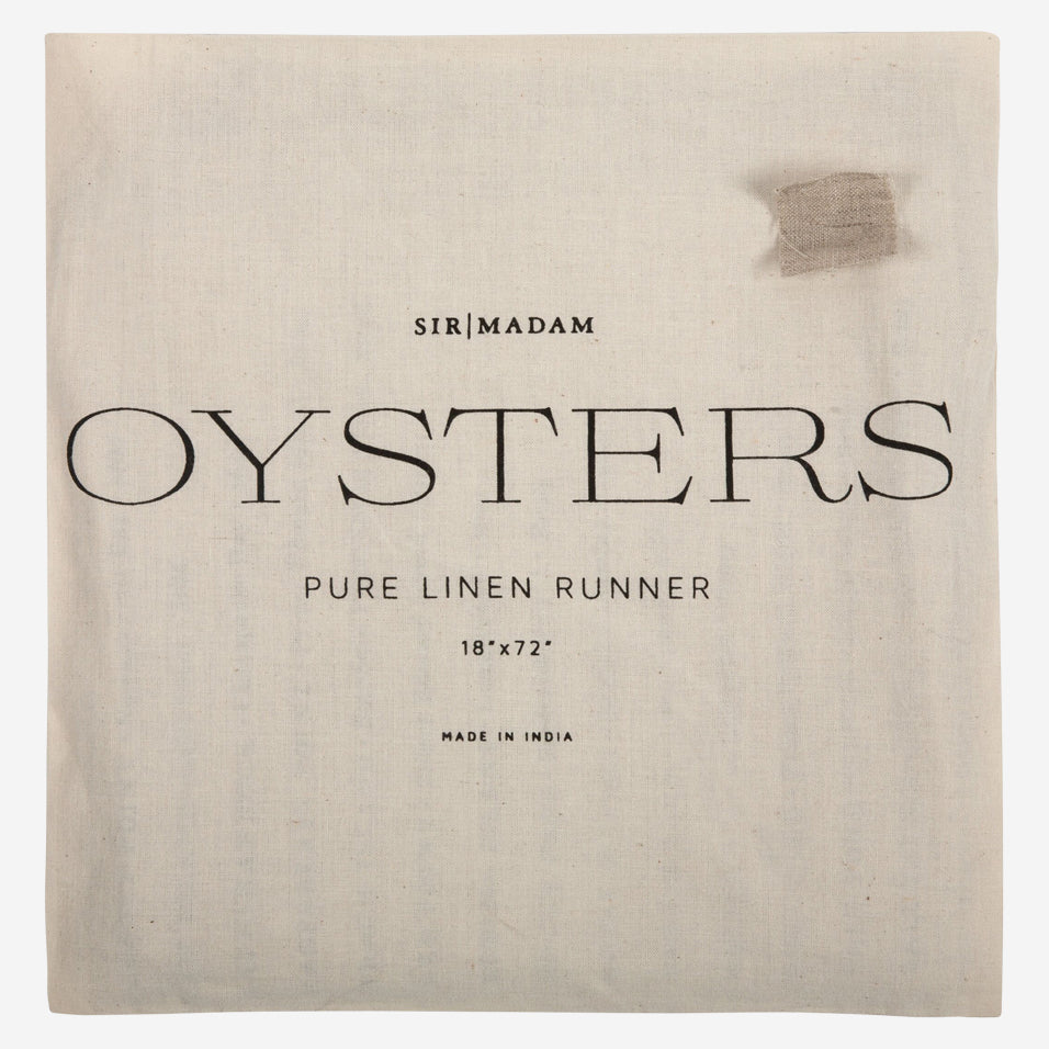 North American Oysters Table Runner
