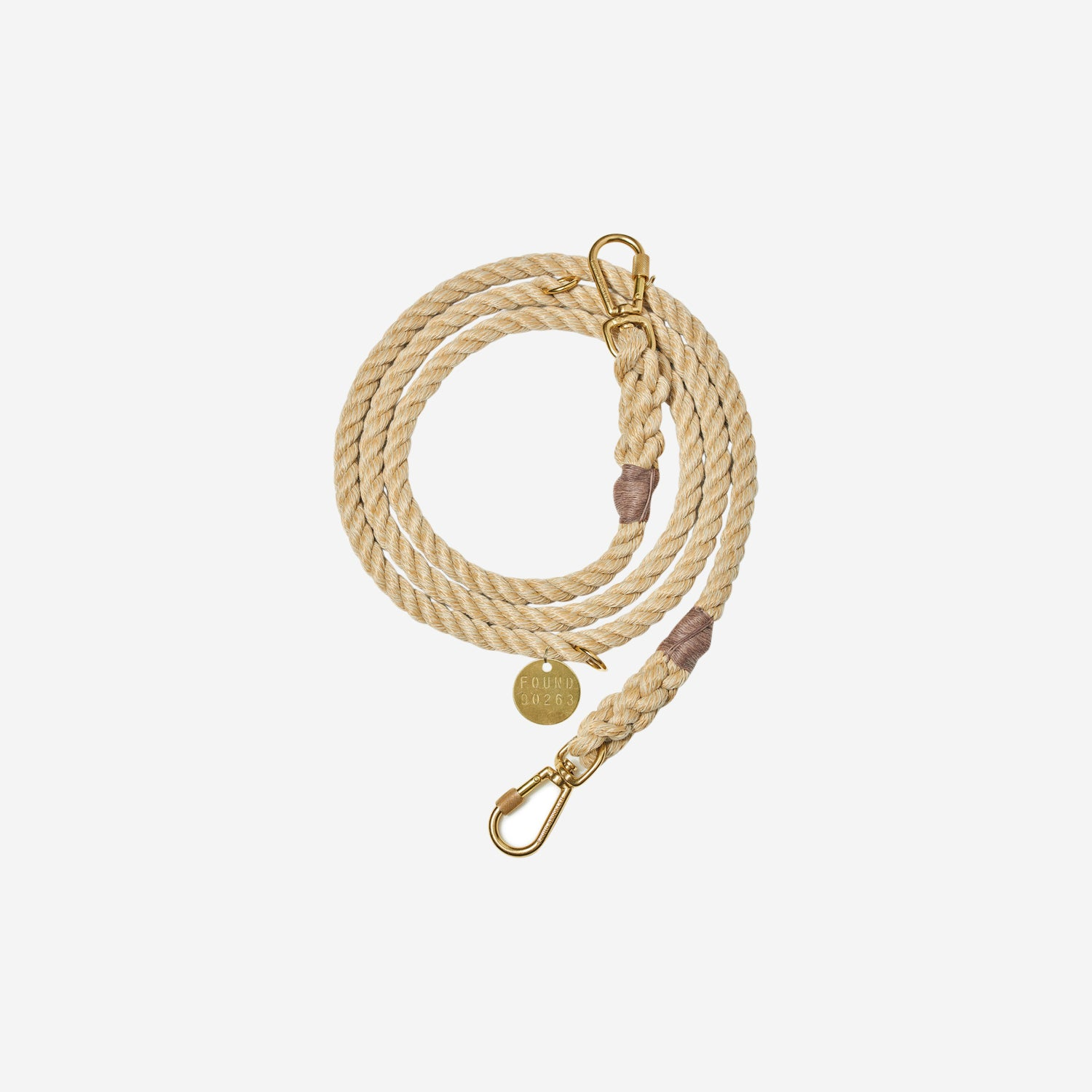 Rope Leash Light Tan