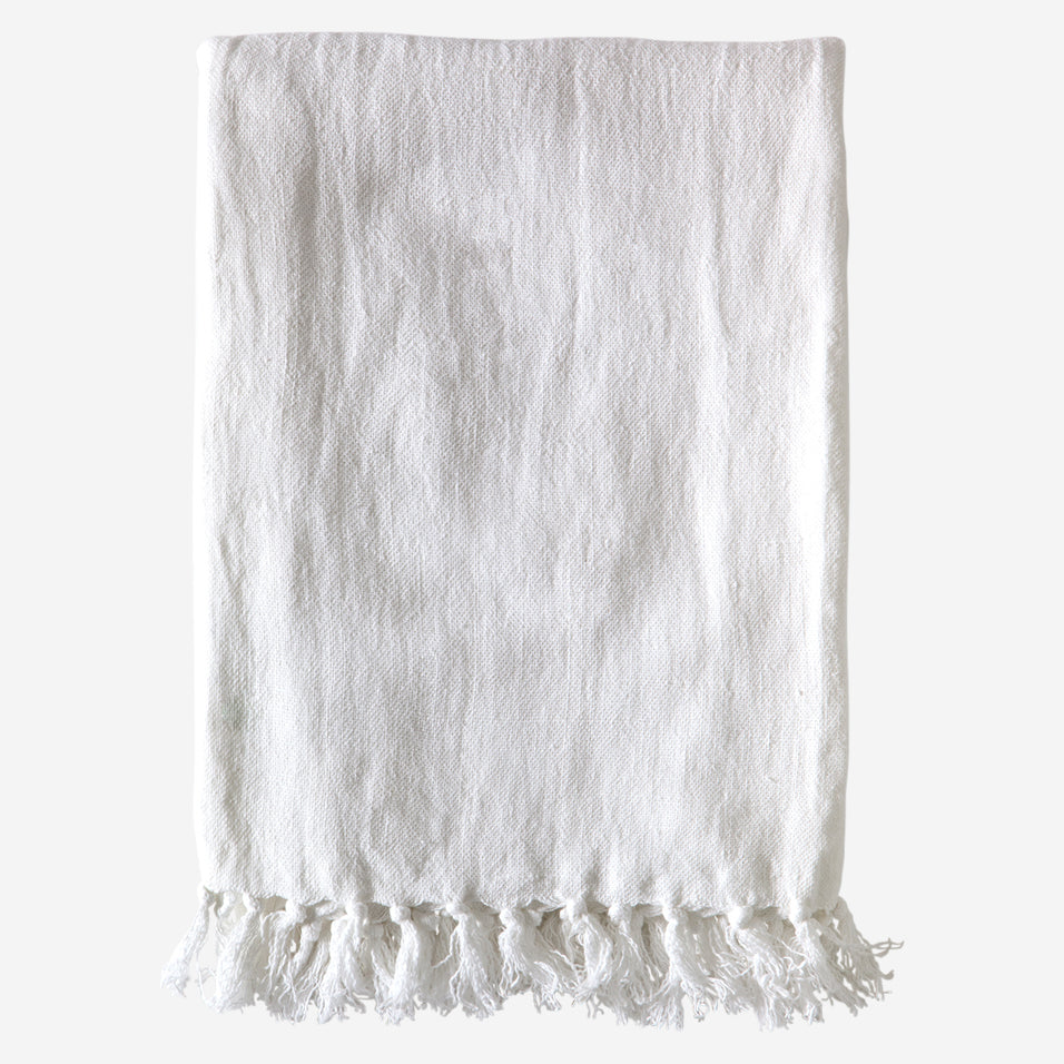 Montauk Throw Pure White