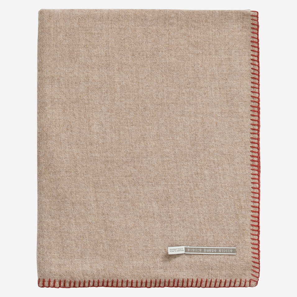Arena Travel Blanket Light Taupe / Rust