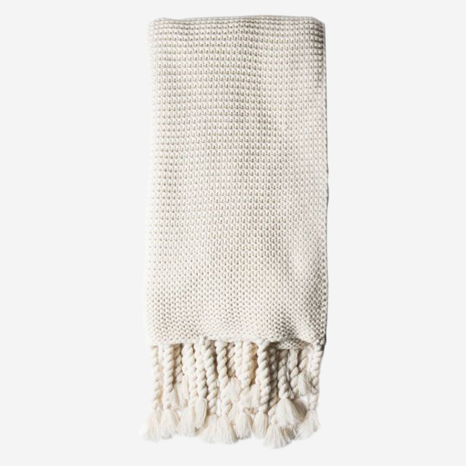Trestles Oversized Throw Antique White