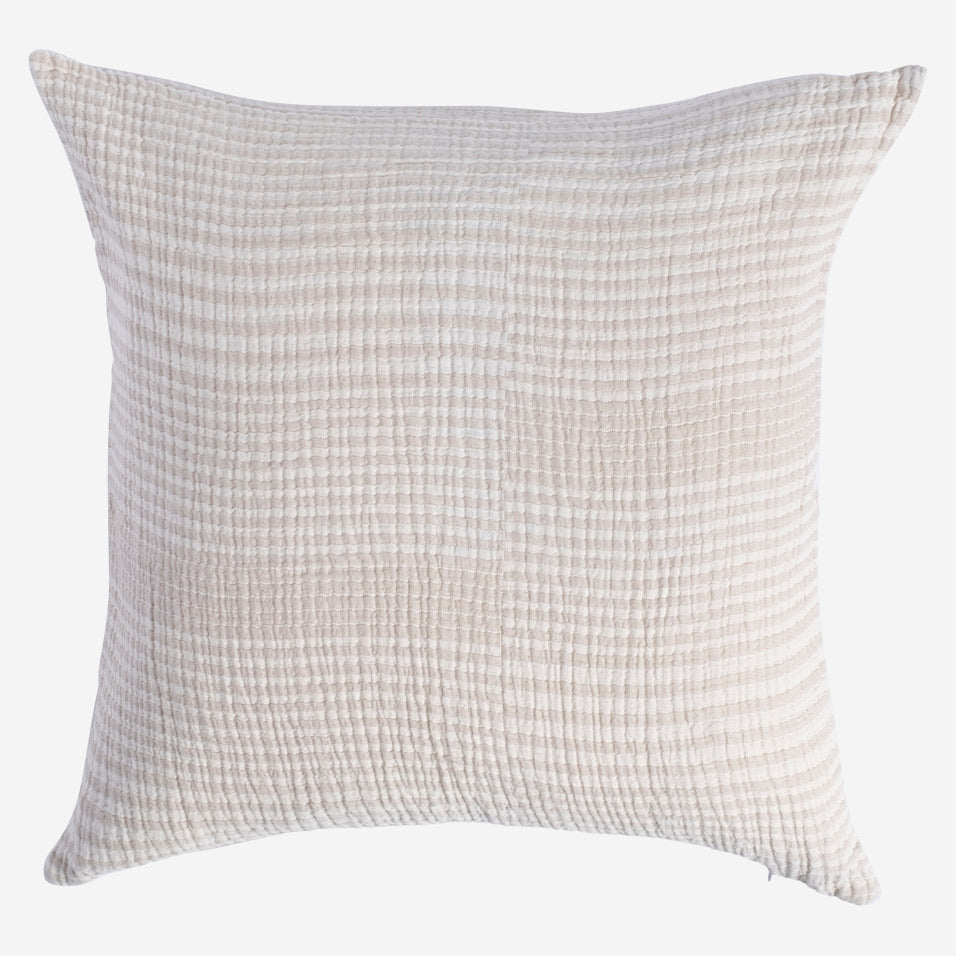 Granada Throw Pillow White and Taupe