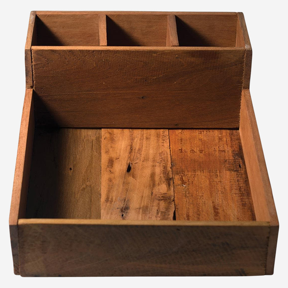 Wood Tray with Dividers