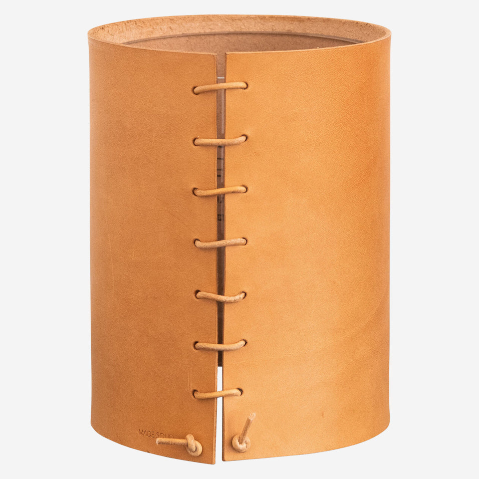 Natural Leather Wrapped Vase