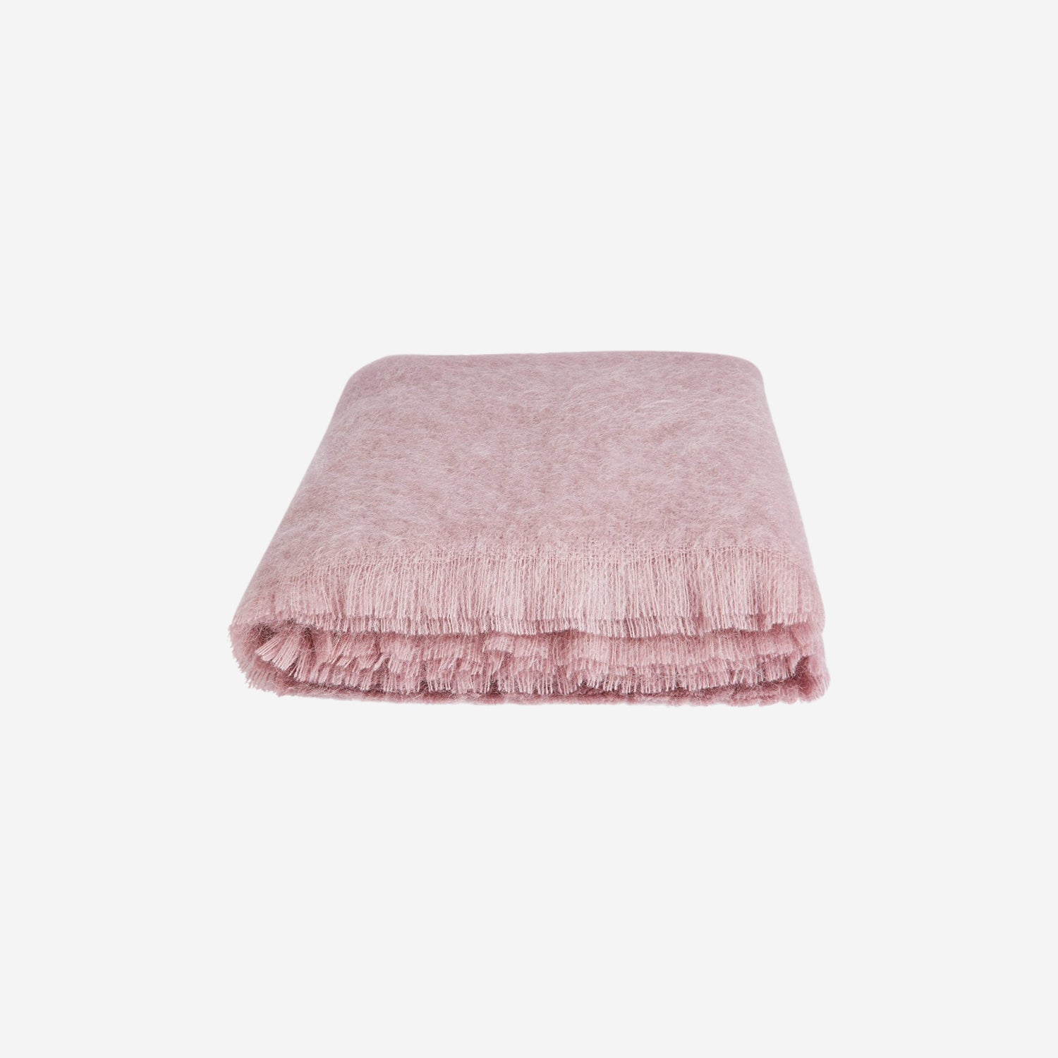 Alba Mohair Throw Dusty Pink