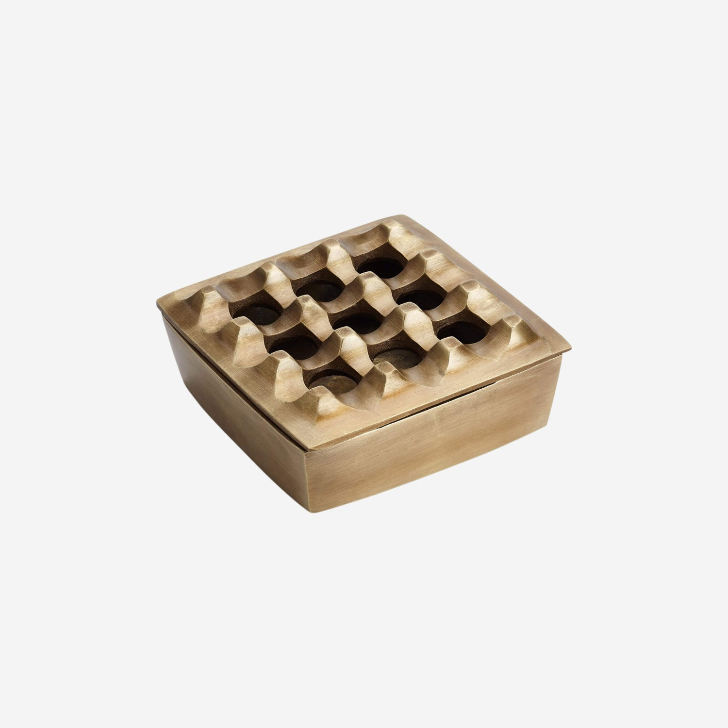 Brass Square Ashtray