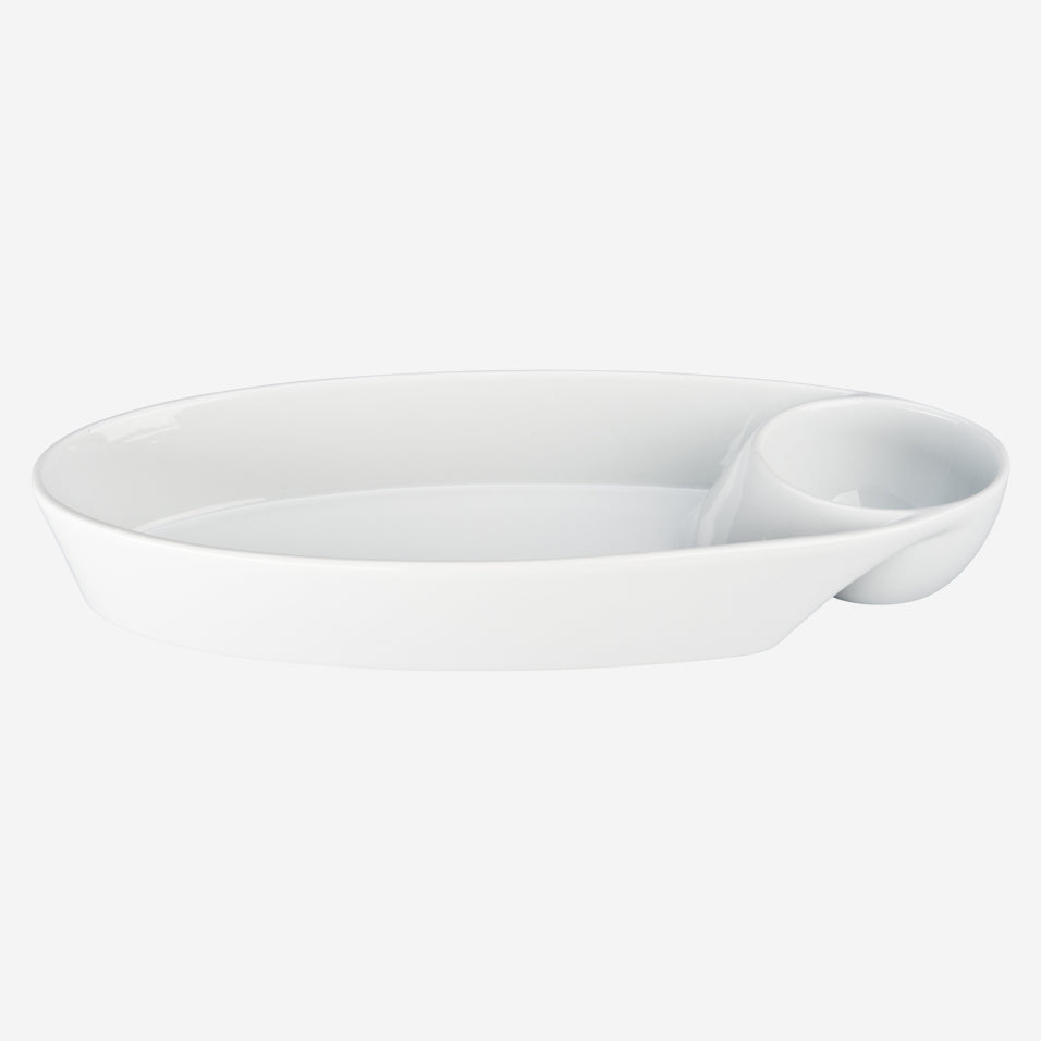 Oval Chip & Dip Server