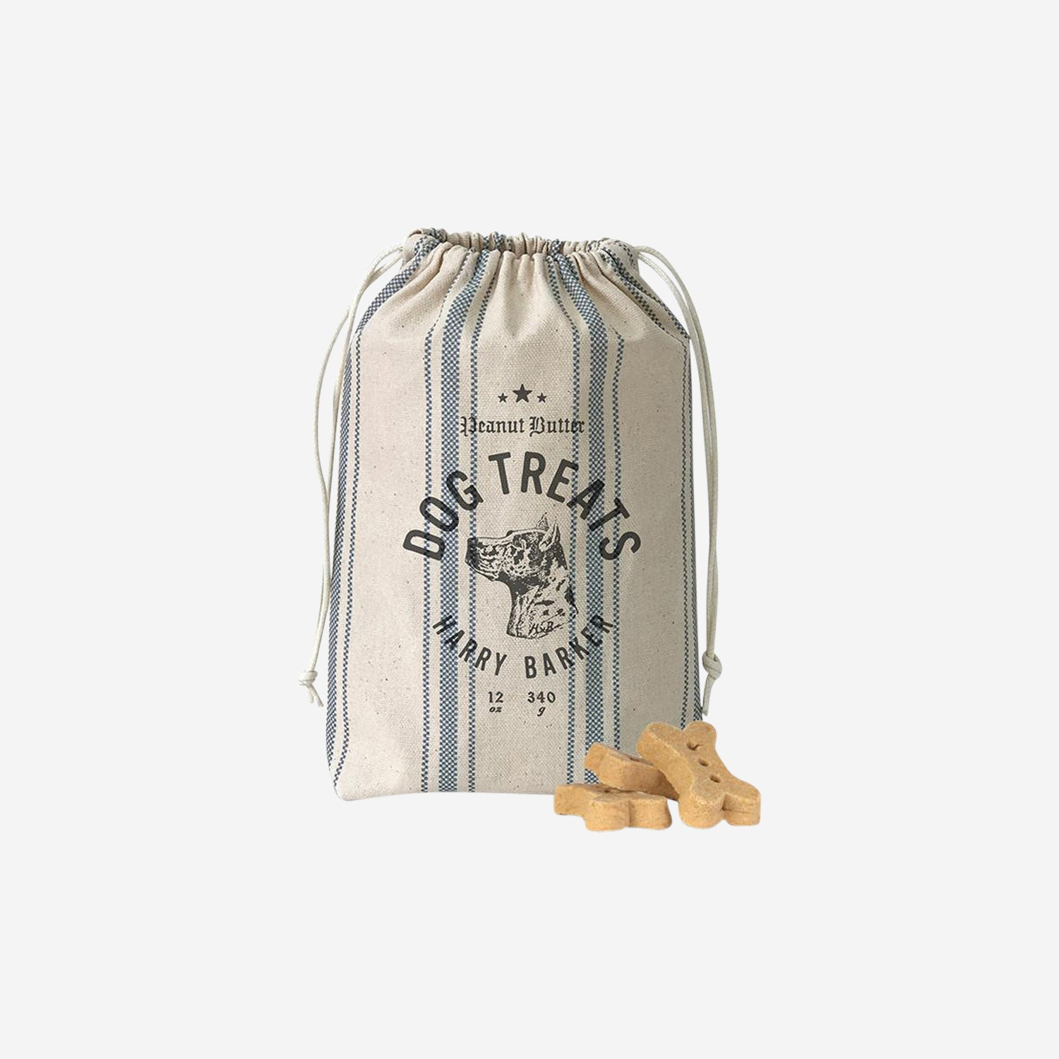Ticking Dog Biscuit Bag