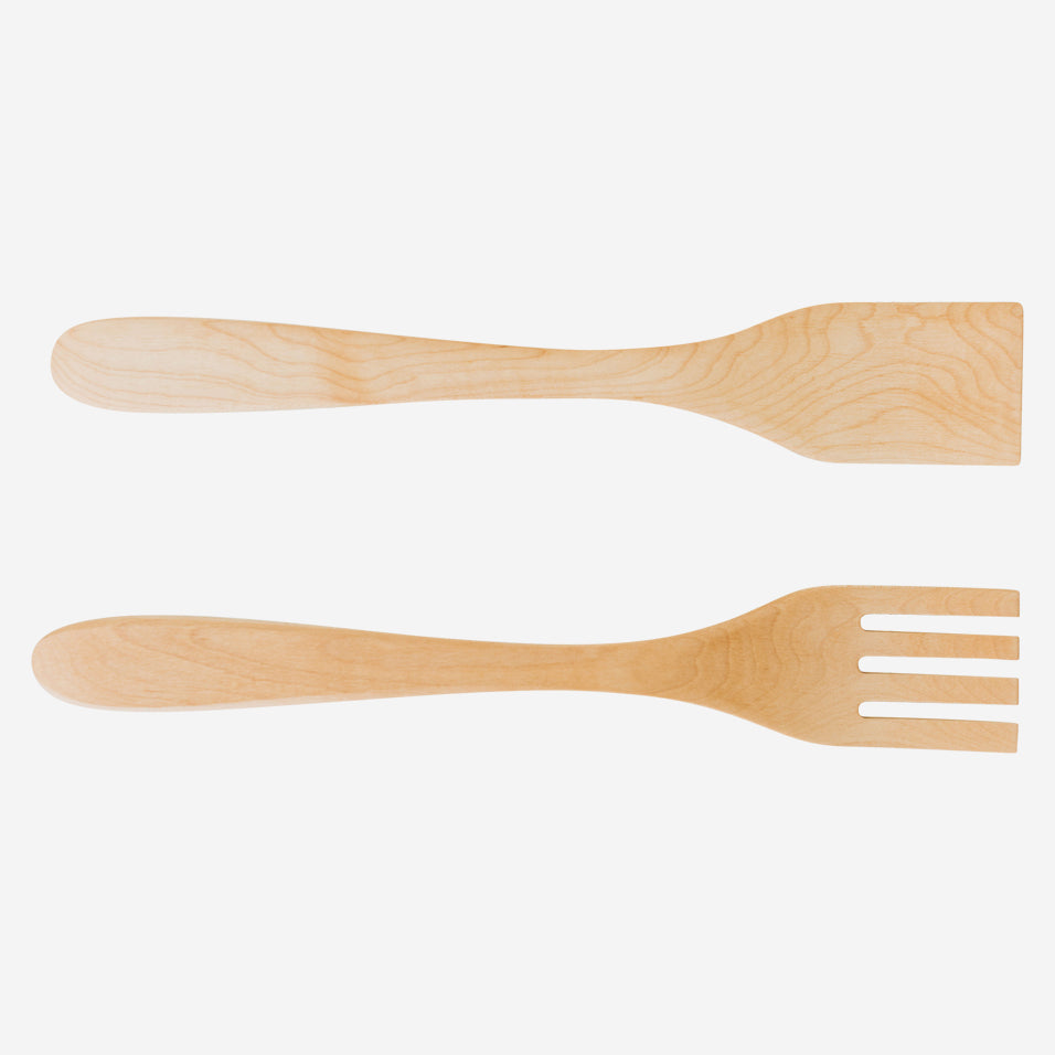 "14"" Maple Salad Servers"