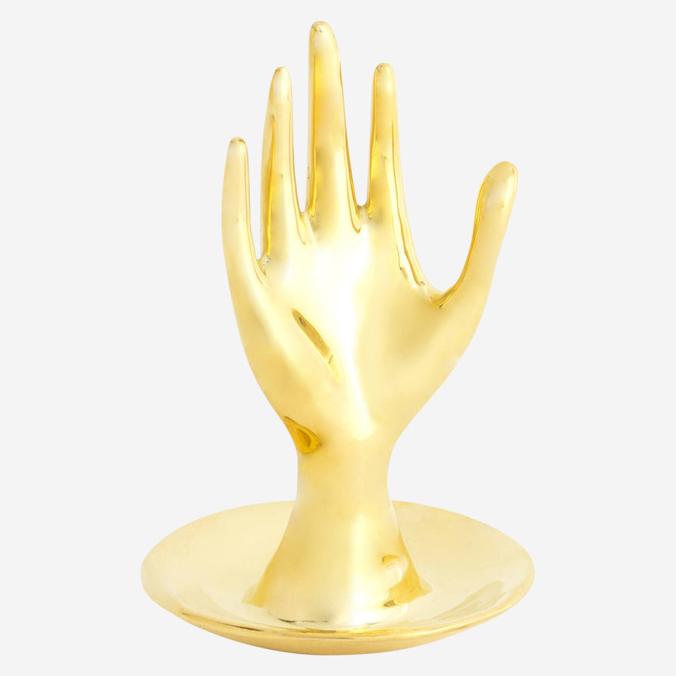 Brass Hand Ring Holder