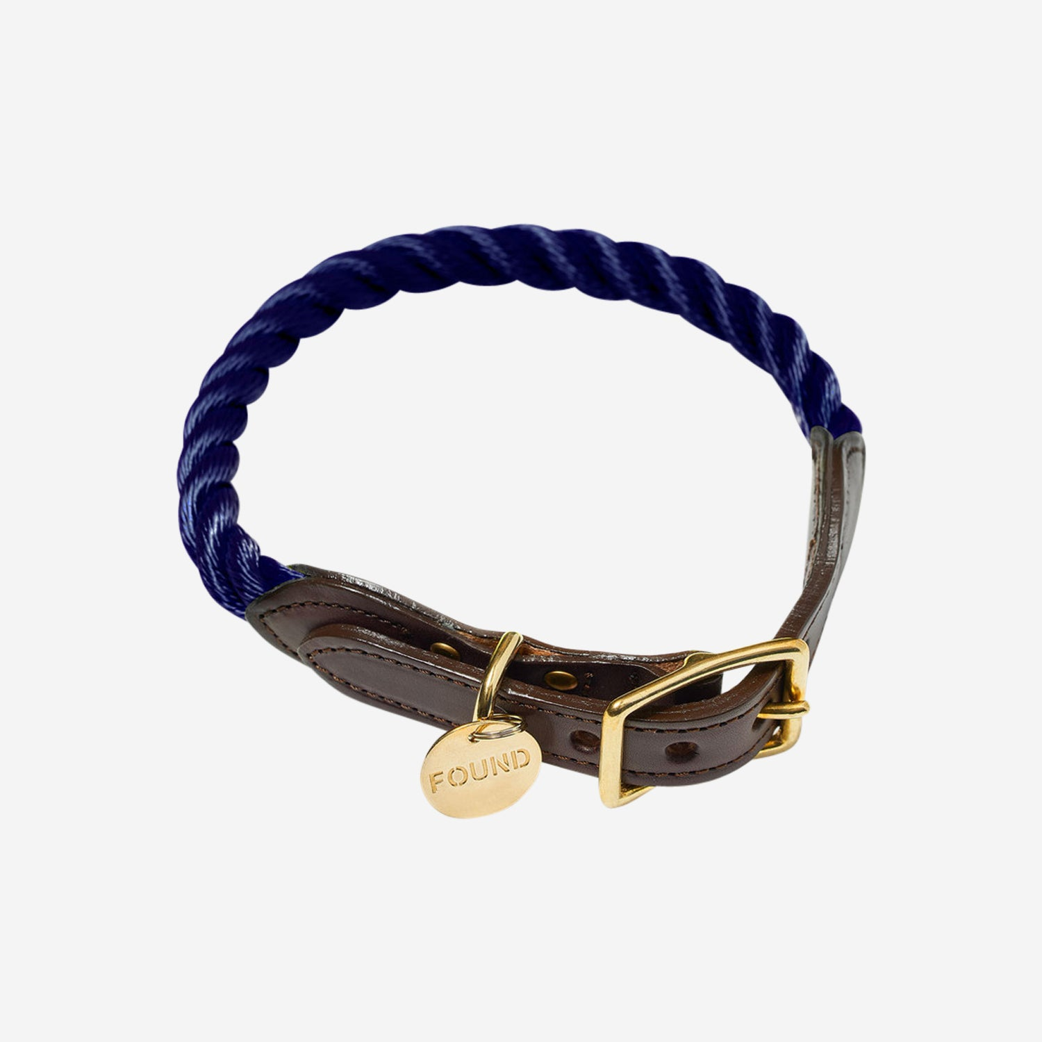 Rope Dog Collar Navy